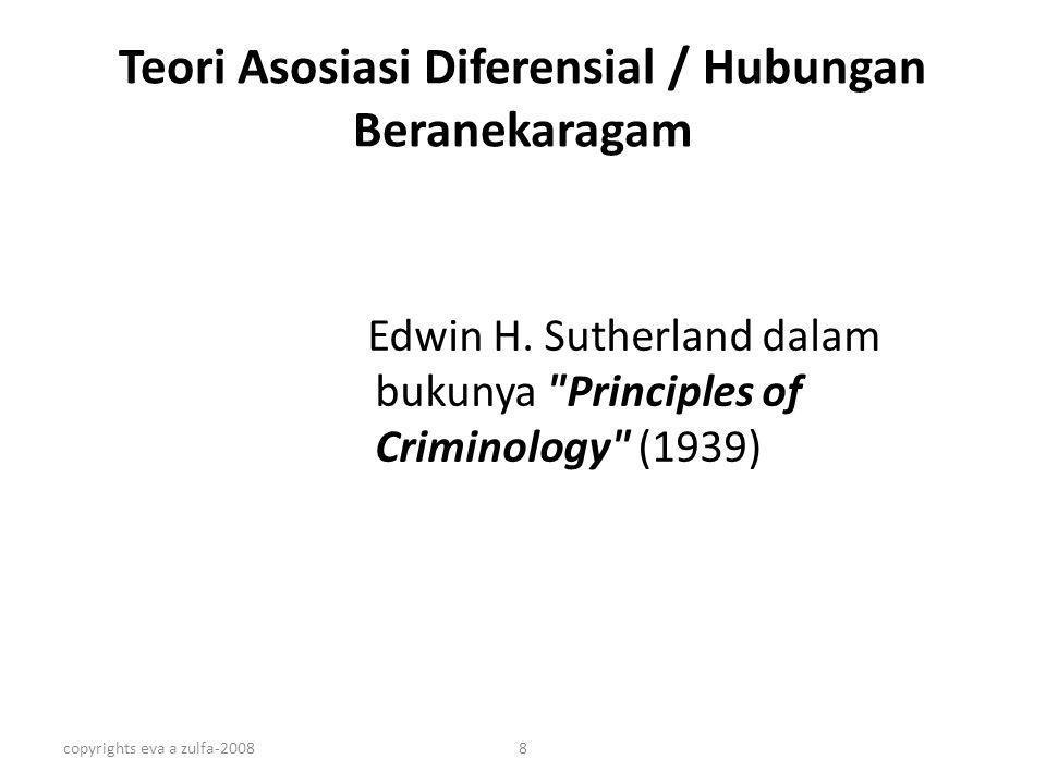 Teori Asosiasi Diferensial / Hubungan Beranekaragam