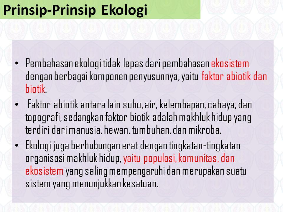 Prinsip-Prinsip Ekologi