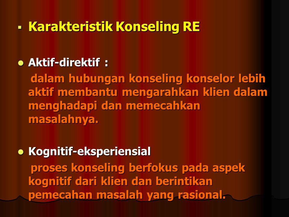 Karakteristik Konseling RE