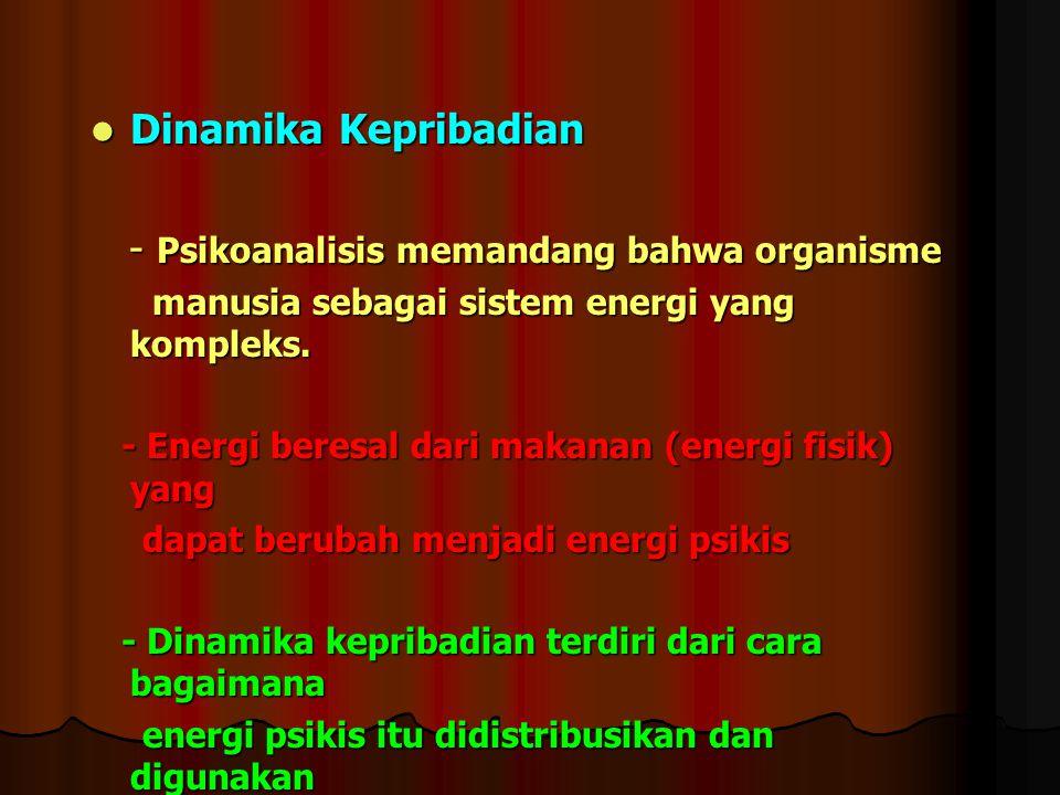 - Psikoanalisis memandang bahwa organisme