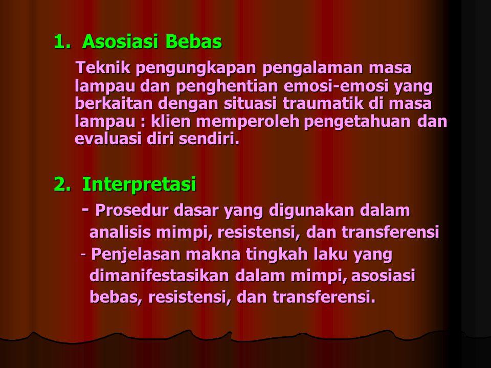 - Prosedur dasar yang digunakan dalam