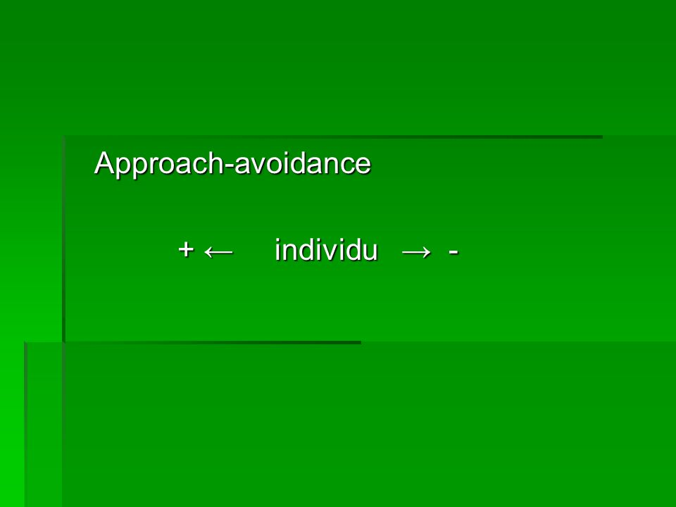 Approach-avoidance + ← individu → -