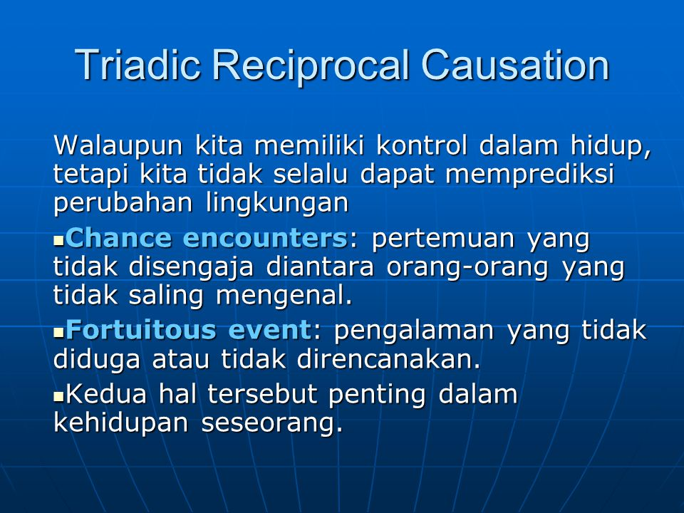 Triadic Reciprocal Causation