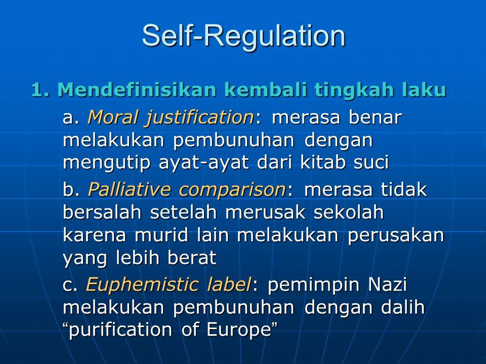 Self-Regulation 1. Mendefinisikan kembali tingkah laku