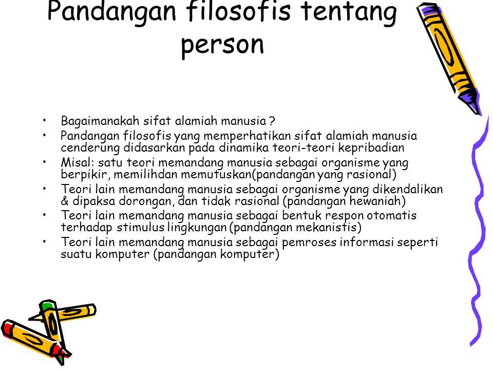 Pandangan filosofis tentang person