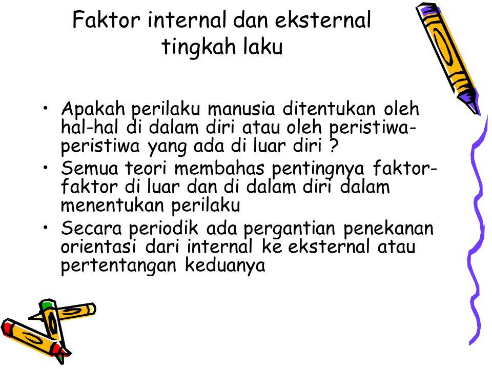 Faktor internal dan eksternal tingkah laku