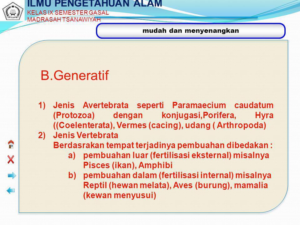 B.Generatif ILMU PENGETAHUAN ALAM