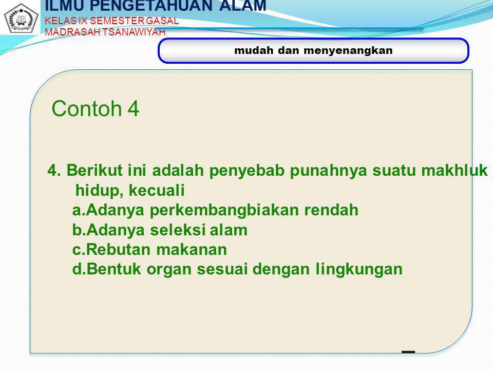 Contoh 4 ILMU PENGETAHUAN ALAM