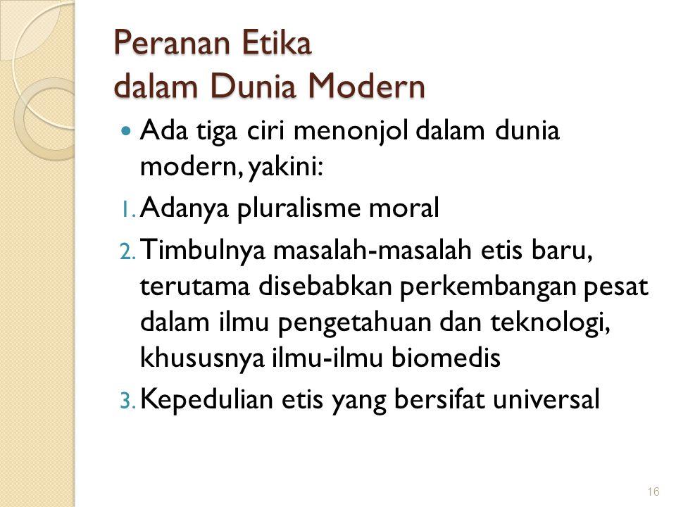Peranan Etika dalam Dunia Modern