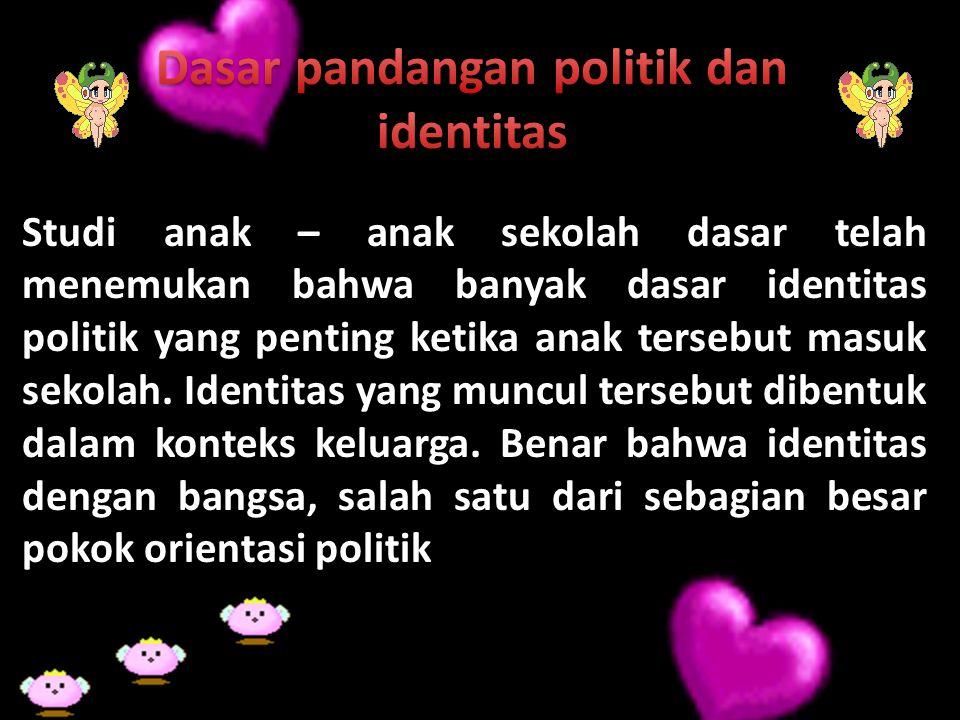 Dasar pandangan politik dan identitas