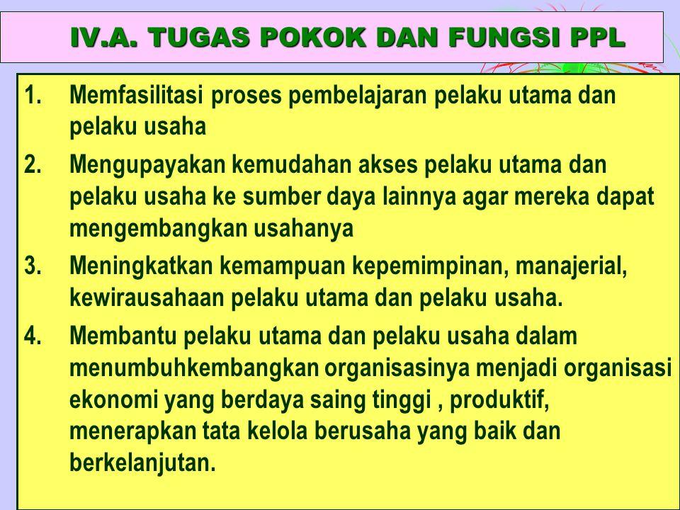 IV.A. TUGAS POKOK DAN FUNGSI PPL