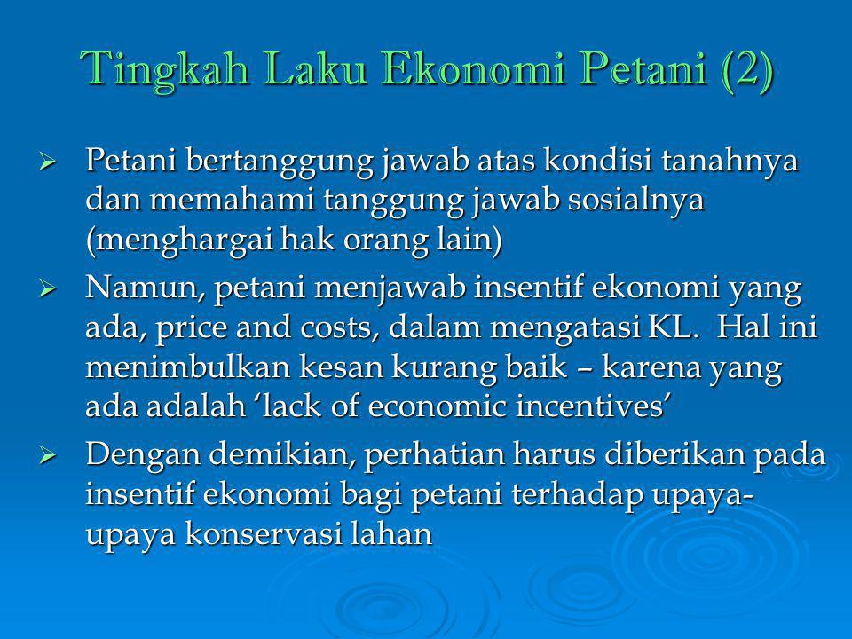 Tingkah Laku Ekonomi Petani (2)