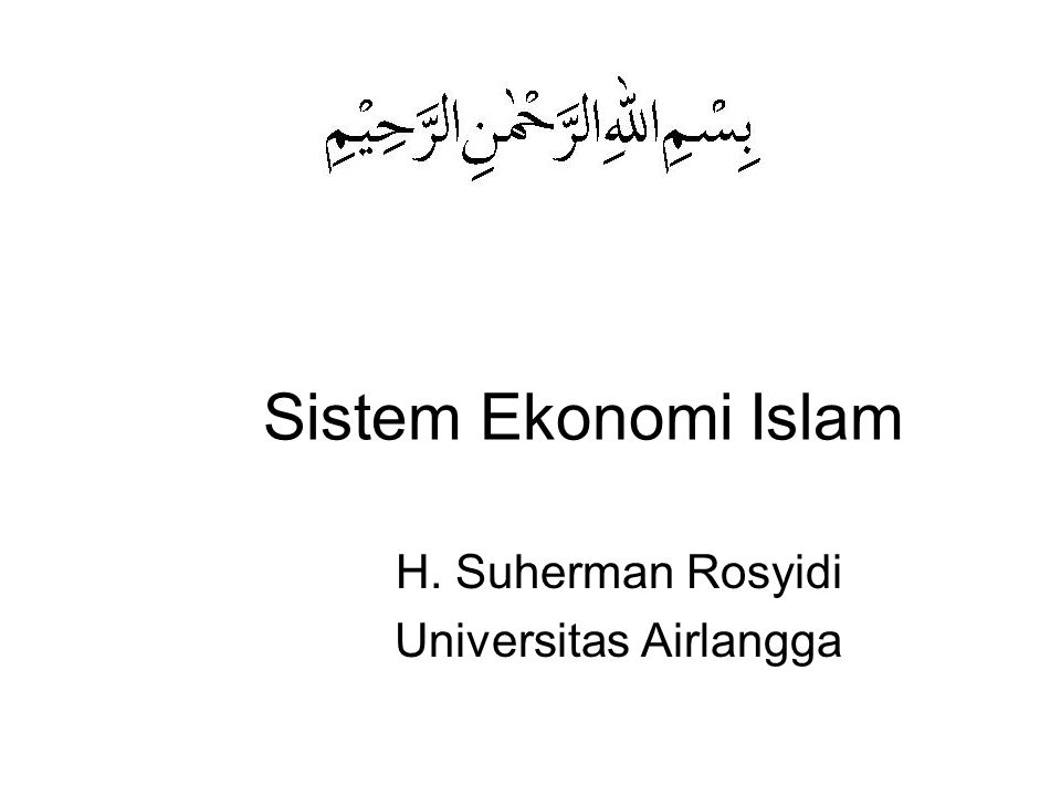 H. Suherman Rosyidi Universitas Airlangga