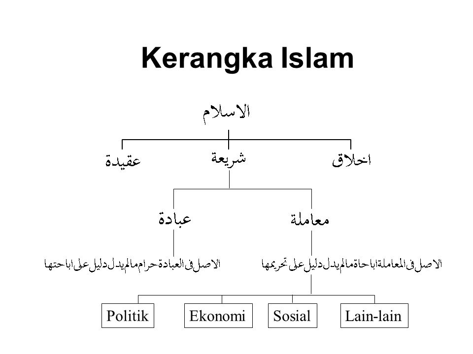 Kerangka Islam Politik Ekonomi Sosial Lain-lain