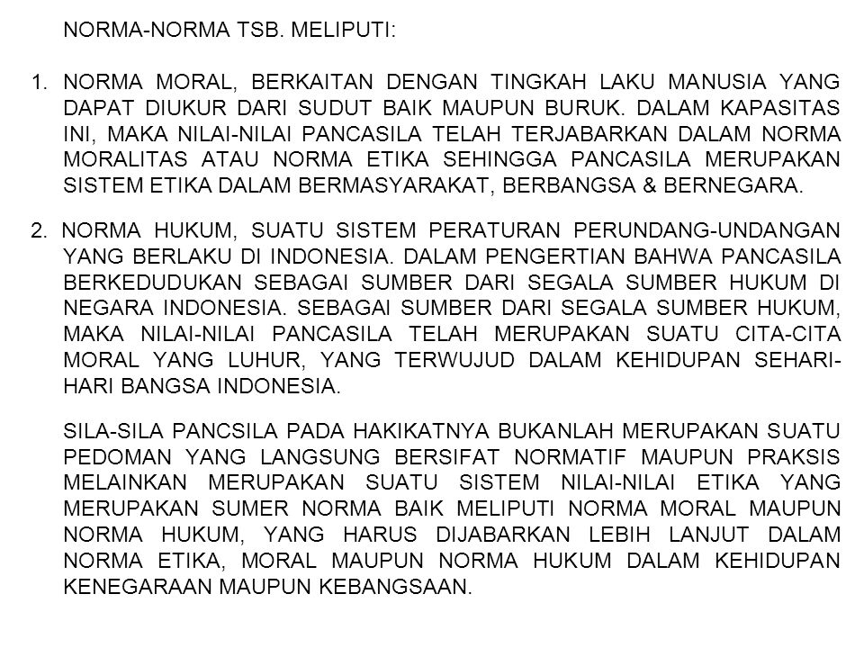NORMA-NORMA TSB. MELIPUTI: