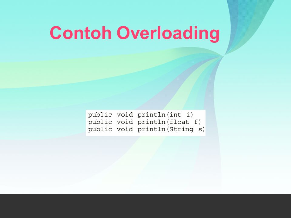 Contoh Overloading