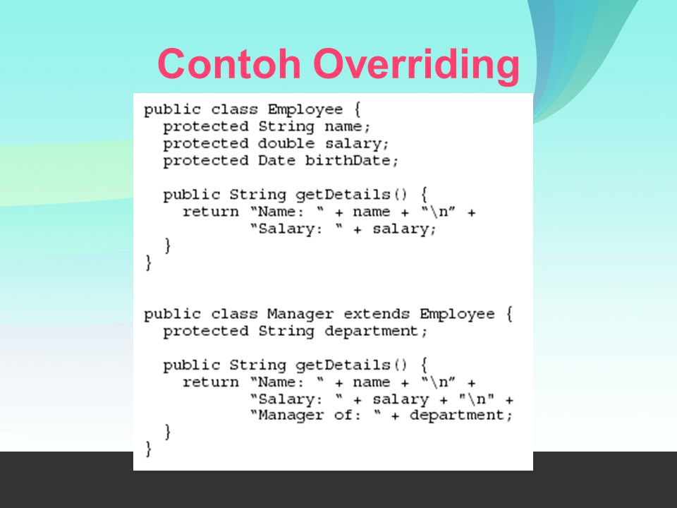 Contoh Overriding
