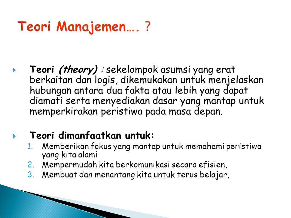 Teori Manajemen….