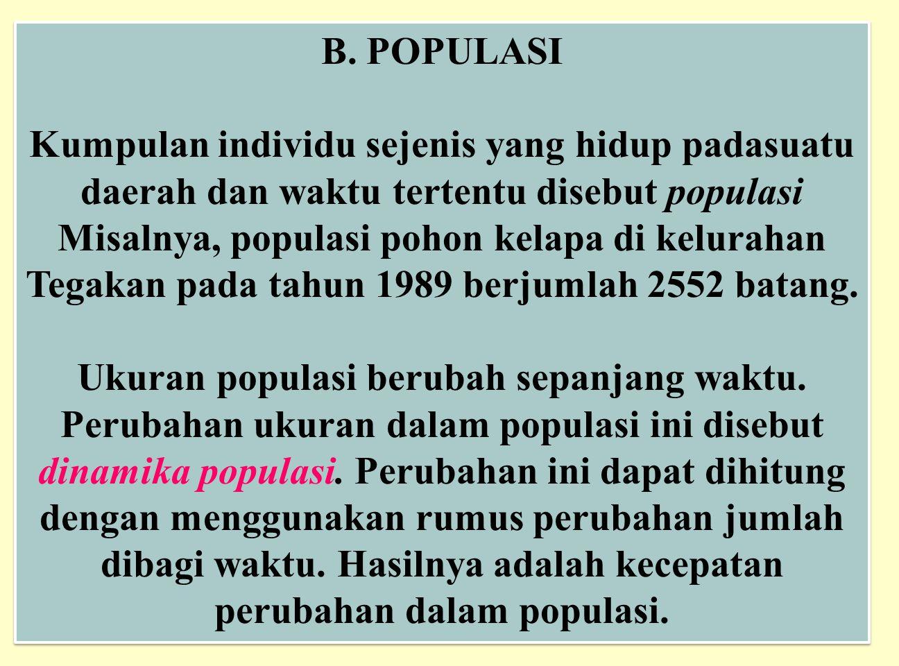 B. POPULASI
