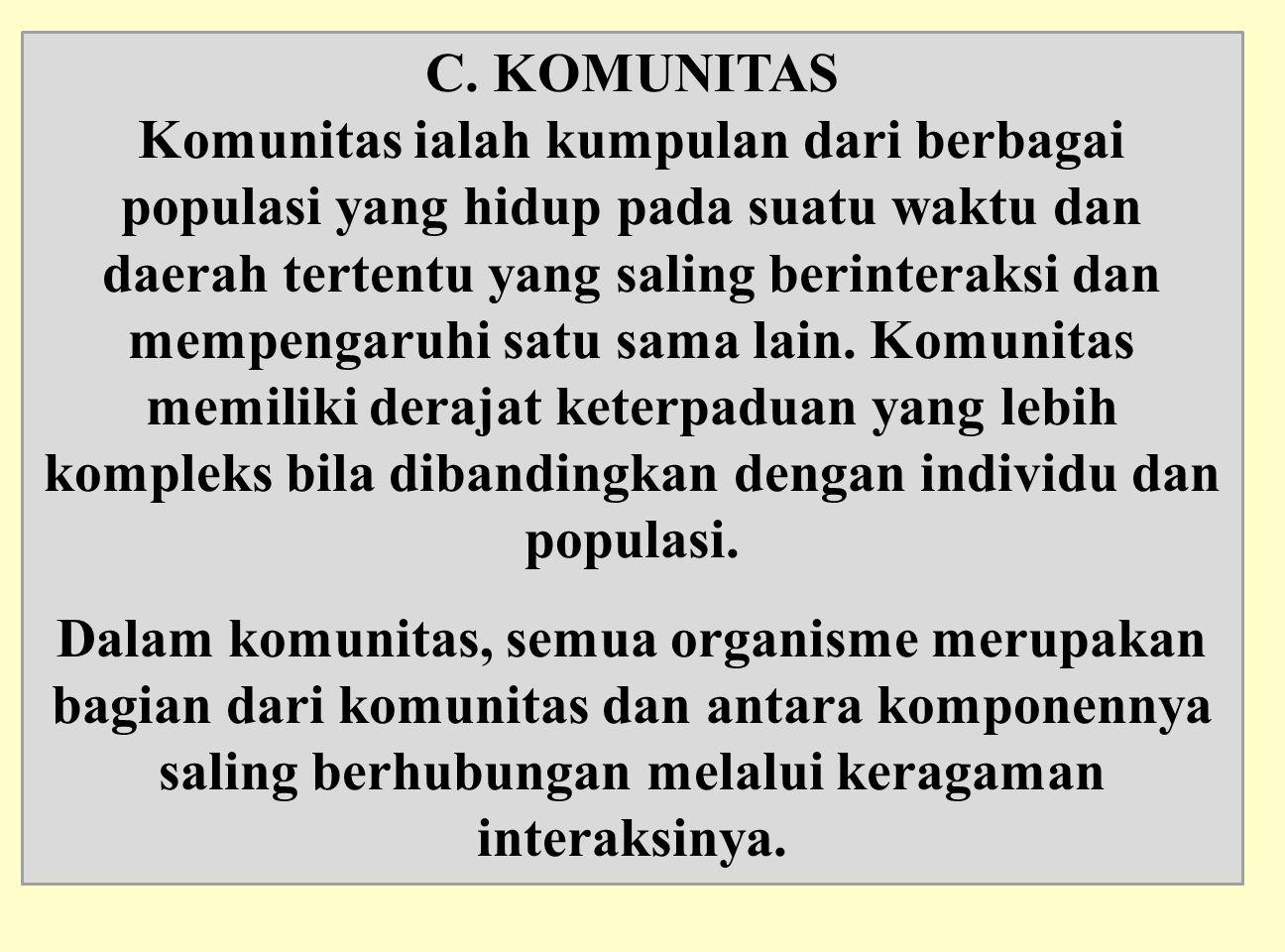 C. KOMUNITAS