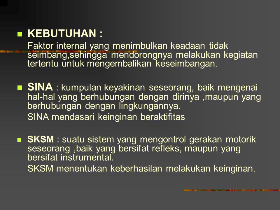 KEBUTUHAN :