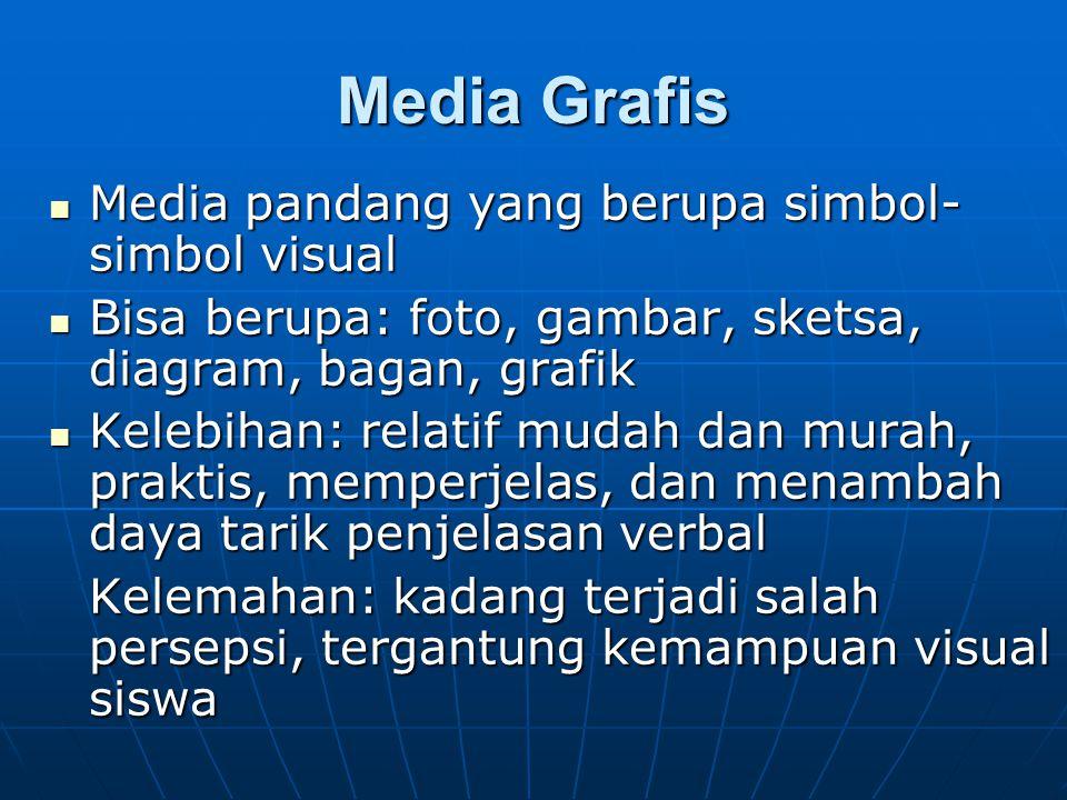 Media Grafis Media pandang yang berupa simbol-simbol visual