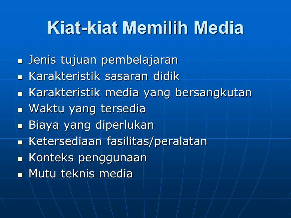Kiat-kiat Memilih Media