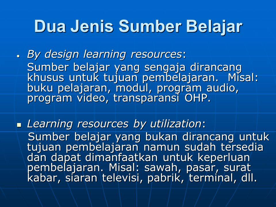 Dua Jenis Sumber Belajar