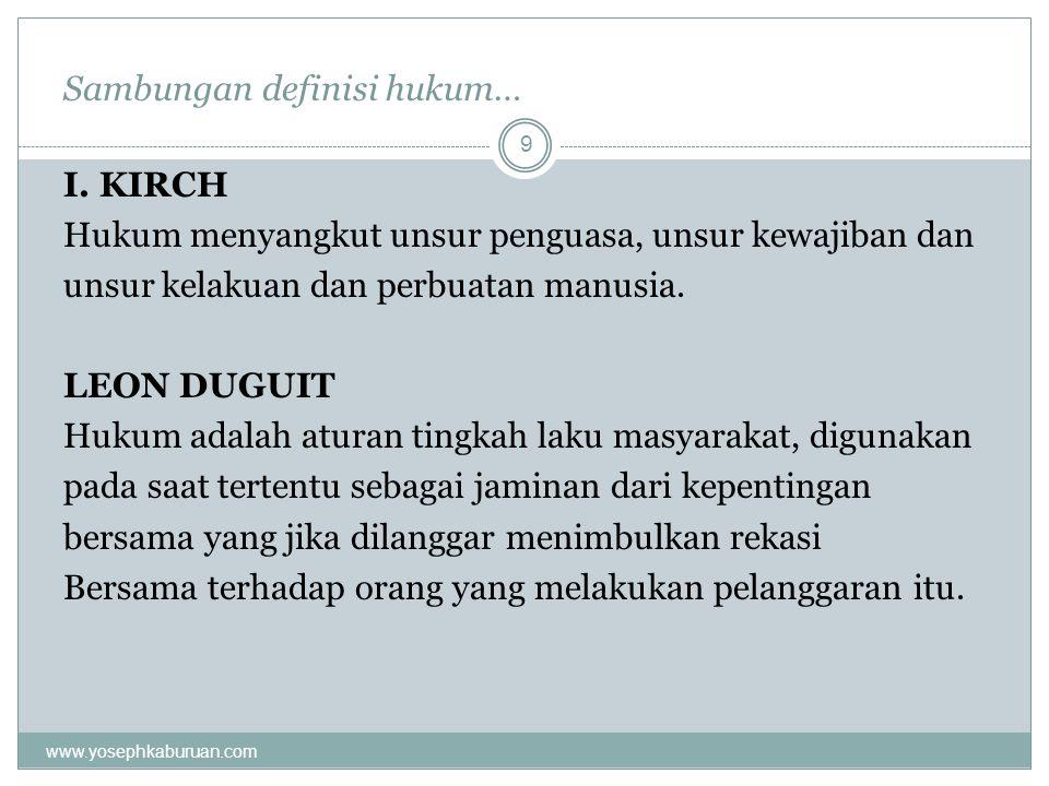 Sambungan definisi hukum…