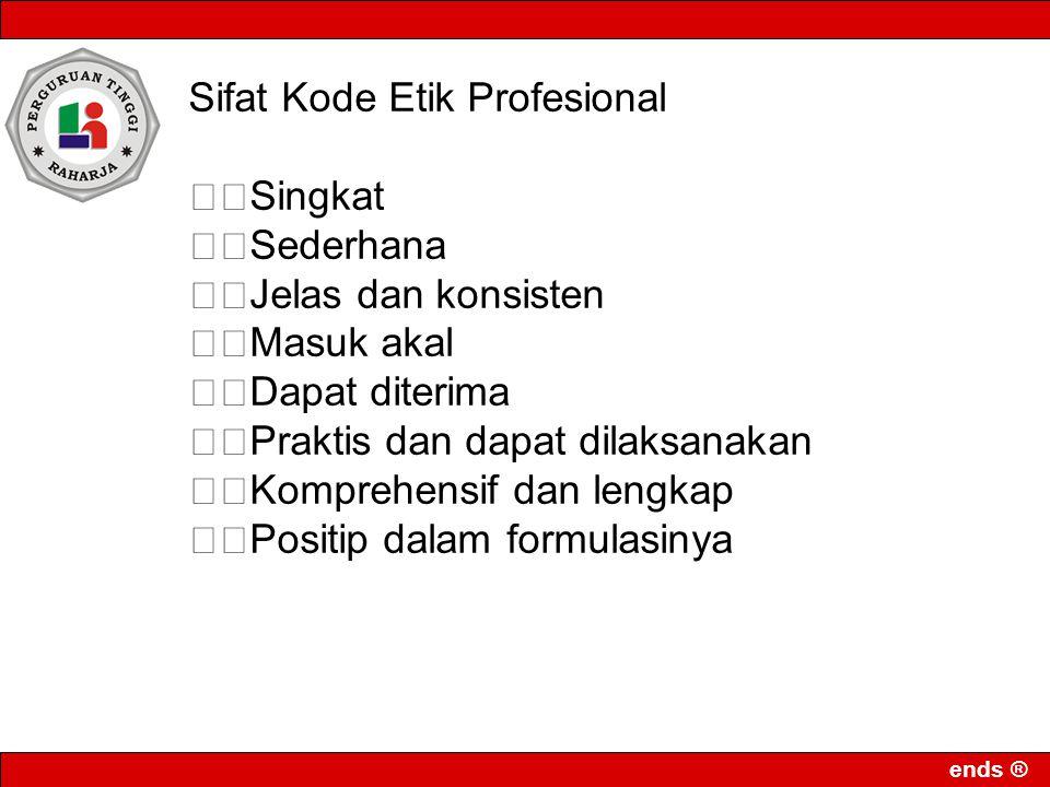 Sifat Kode Etik Profesional