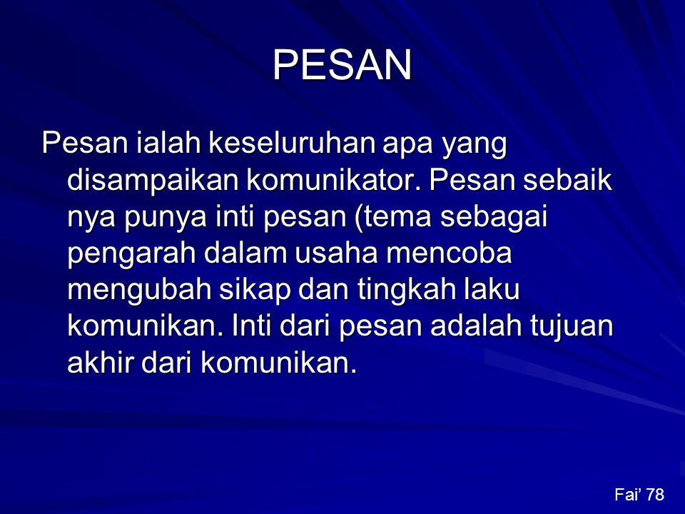 PESAN