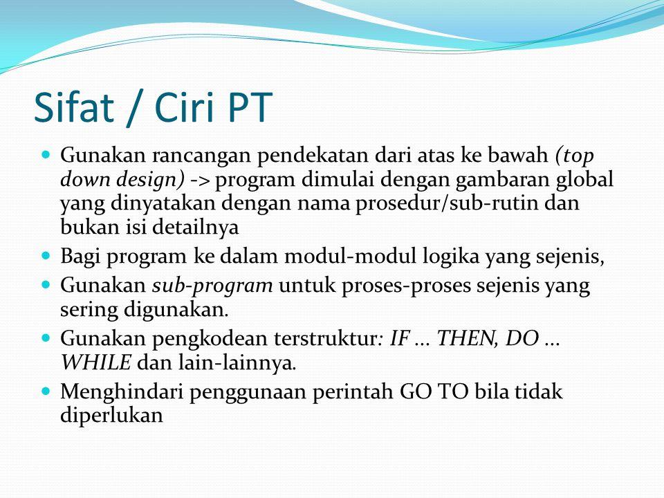 Sifat / Ciri PT