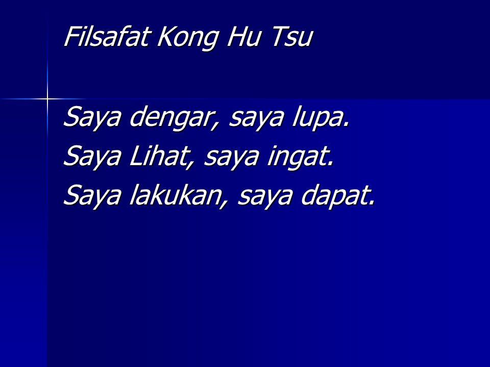 Filsafat Kong Hu Tsu Saya dengar, saya lupa. Saya Lihat, saya ingat