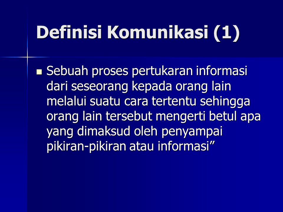 Definisi Komunikasi (1)