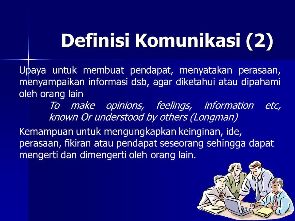 Definisi Komunikasi (2)
