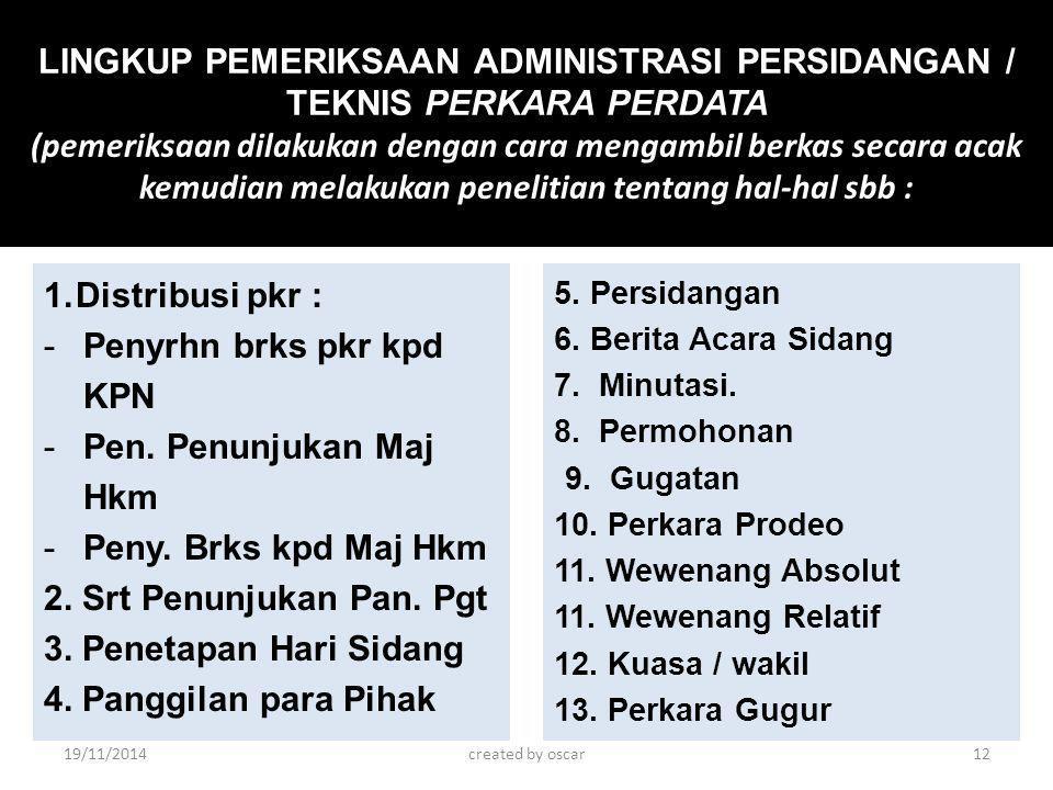 Penyrhn brks pkr kpd KPN Pen. Penunjukan Maj Hkm