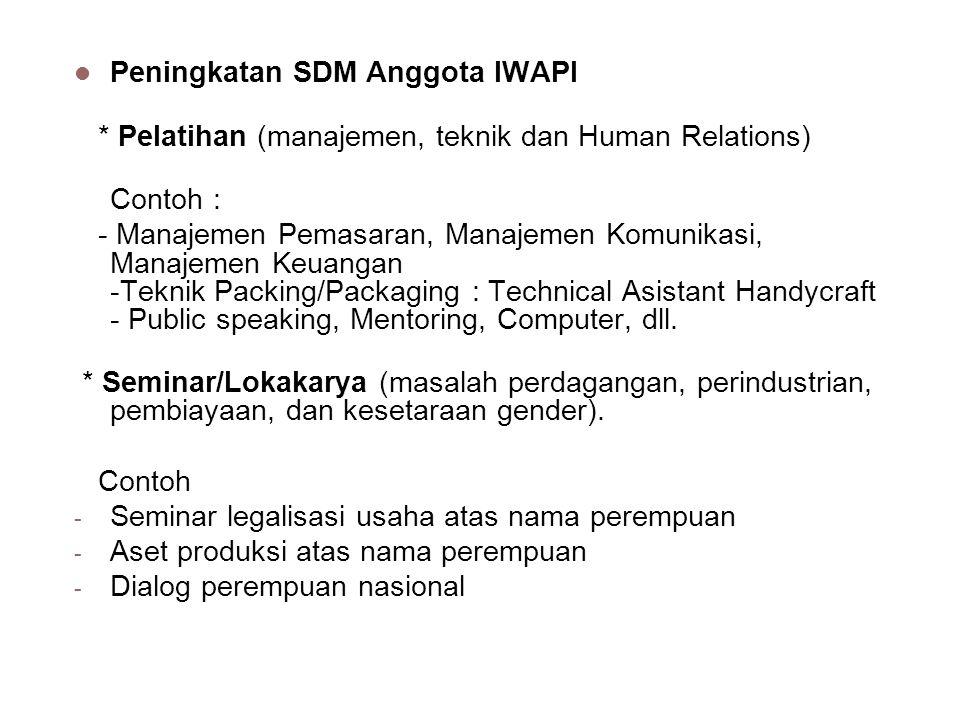 Peningkatan SDM Anggota IWAPI