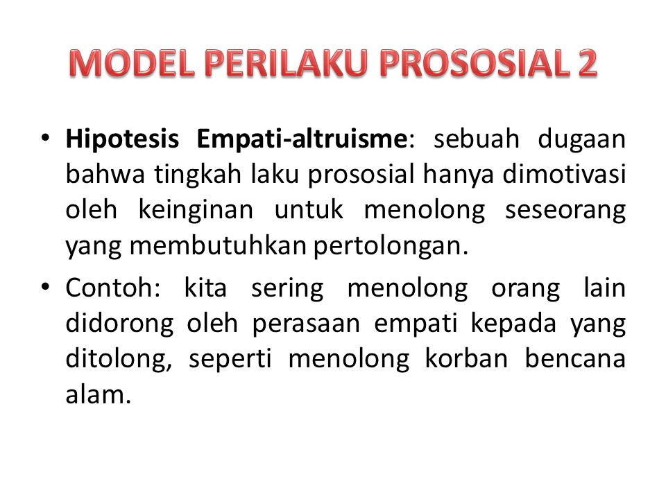 MODEL PERILAKU PROSOSIAL 2