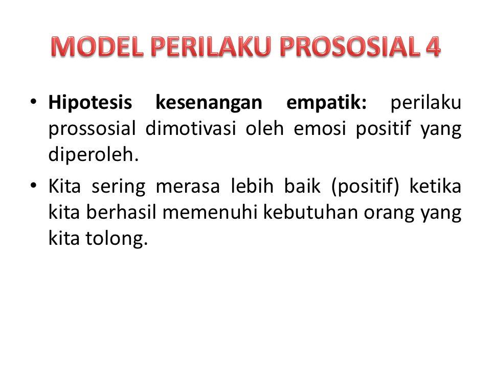 MODEL PERILAKU PROSOSIAL 4