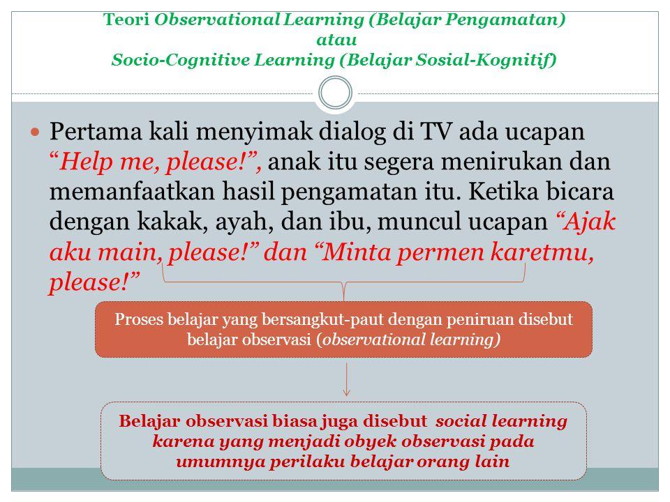 Belajar observasi biasa juga disebut social learning