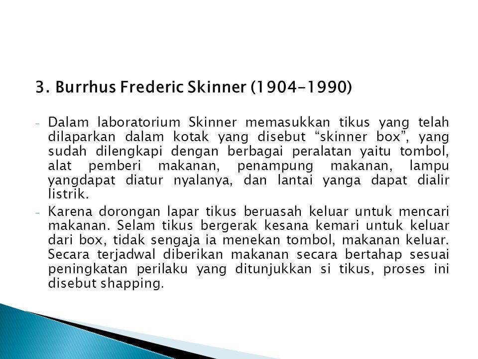 3. Burrhus Frederic Skinner (1904-1990)