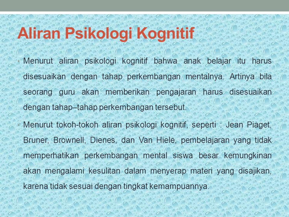 Aliran Psikologi Kognitif