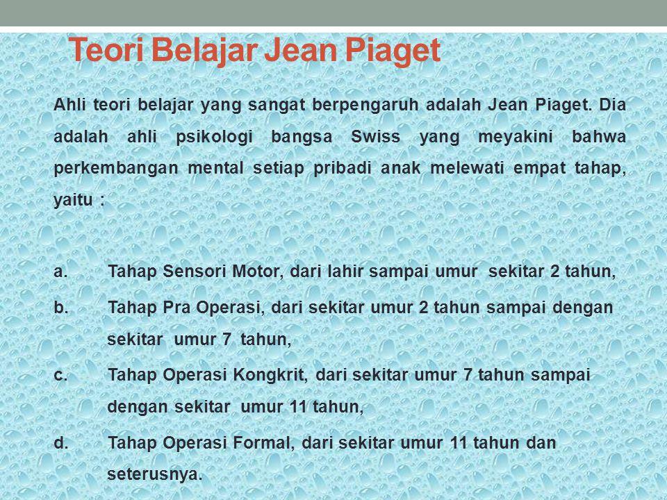Teori Belajar Jean Piaget