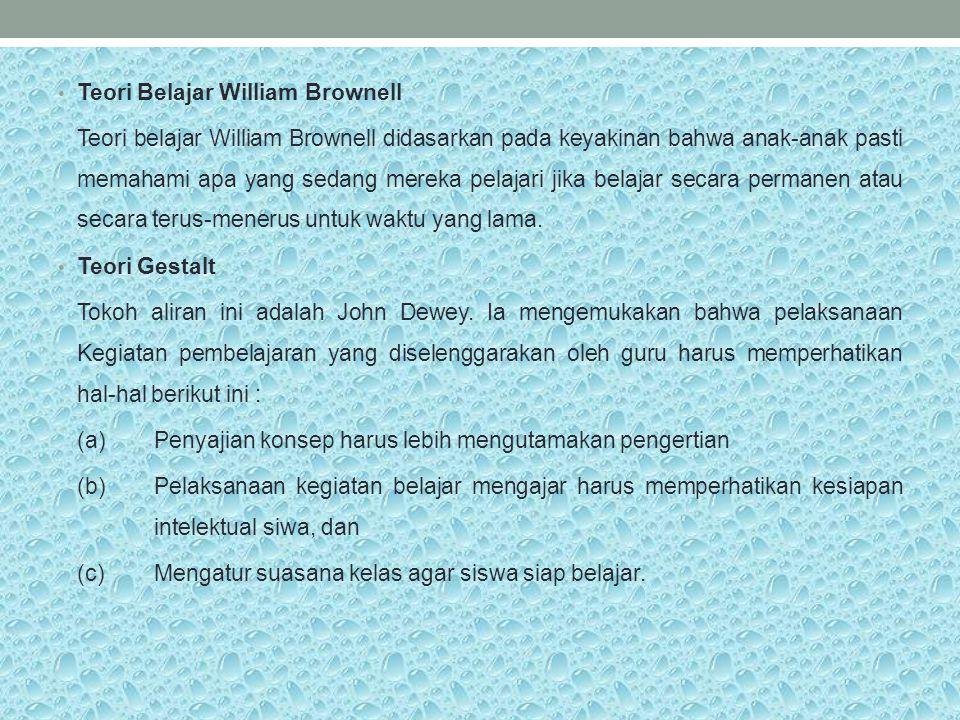 Teori Belajar William Brownell
