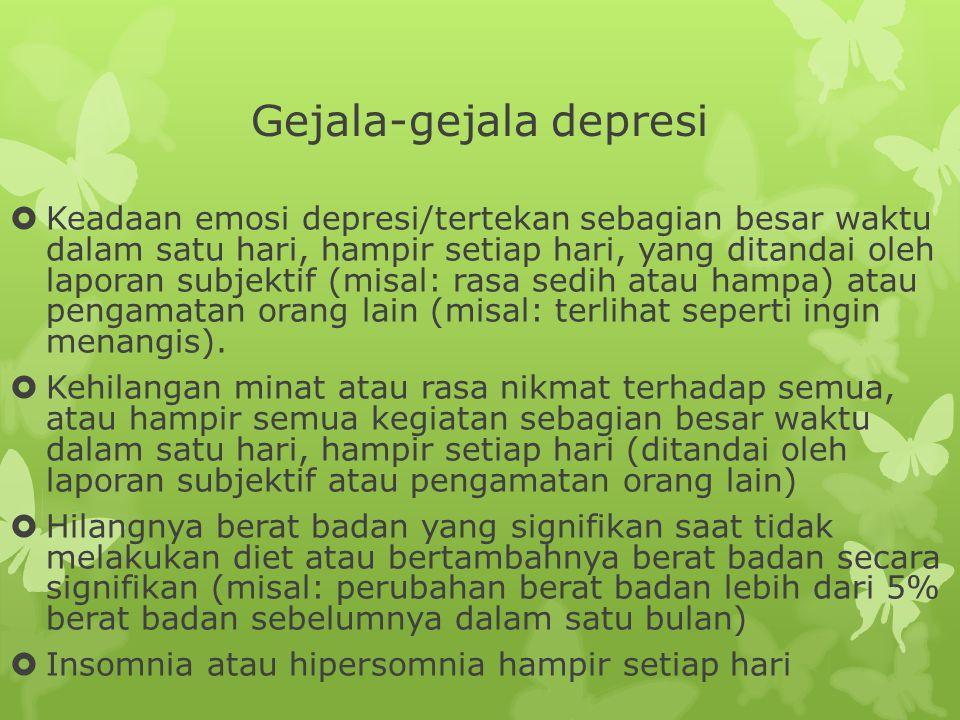 Gejala-gejala depresi