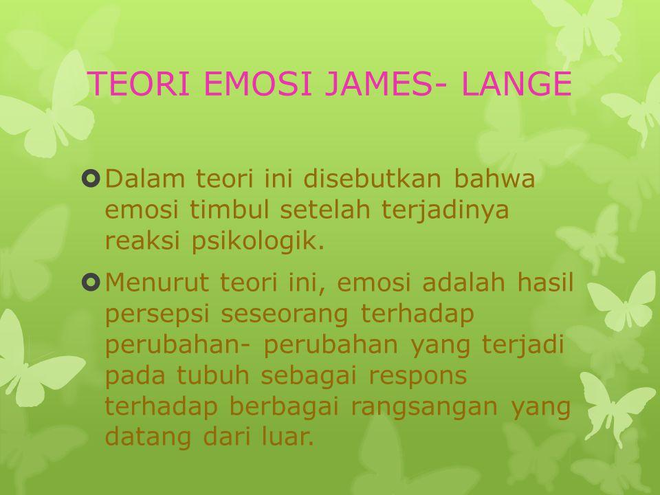 TEORI EMOSI JAMES- LANGE