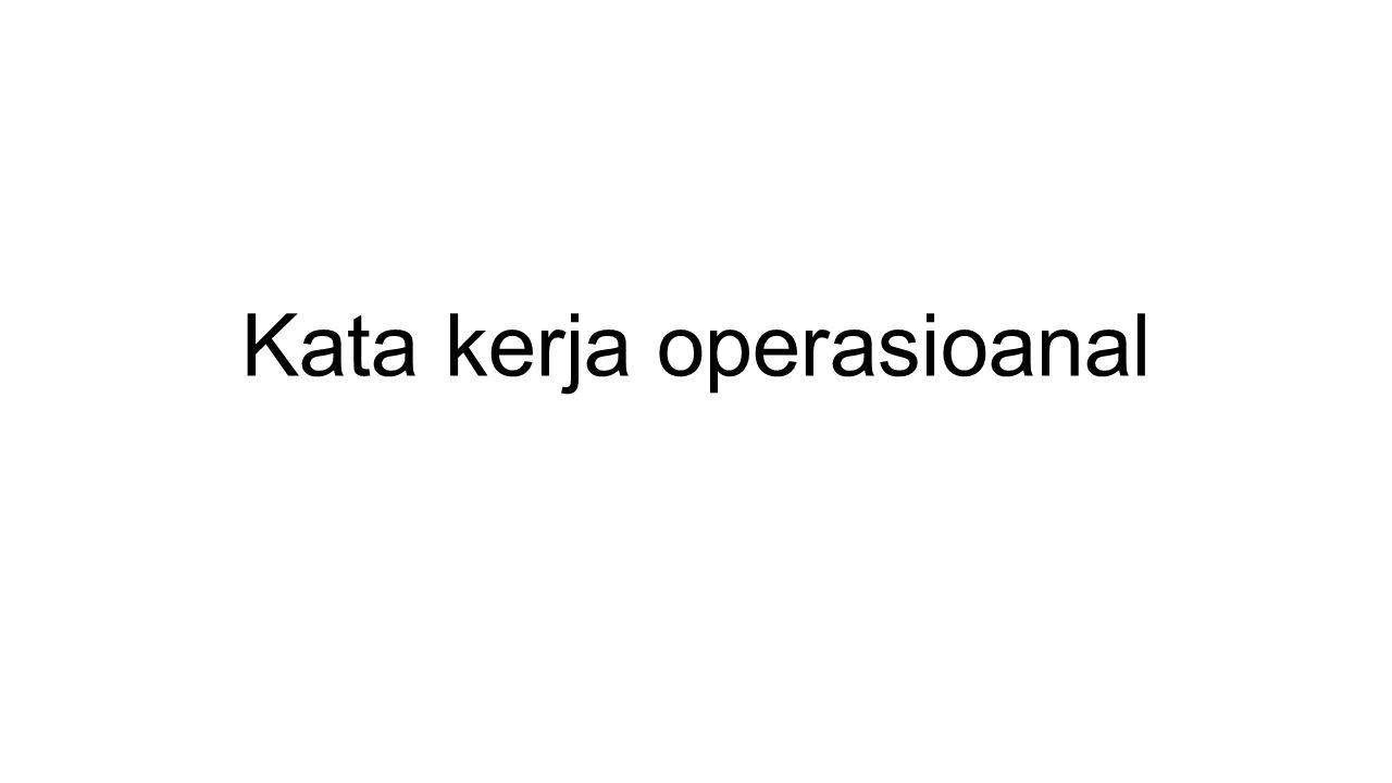 Kata kerja operasioanal