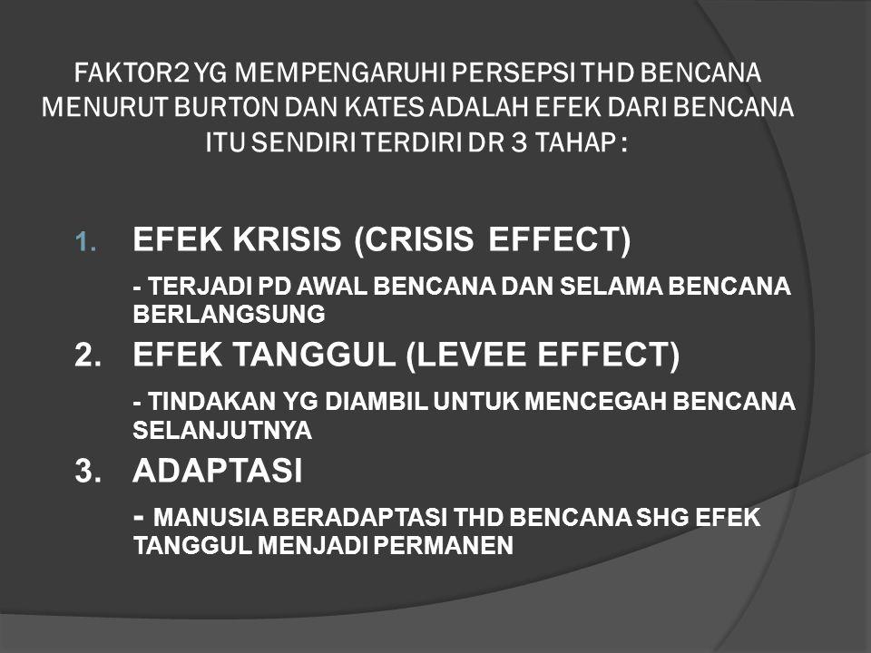 EFEK KRISIS (CRISIS EFFECT)