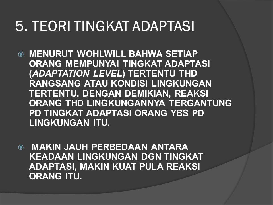 5. TEORI TINGKAT ADAPTASI