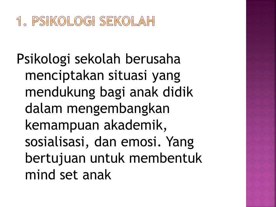 1. Psikologi sekolah